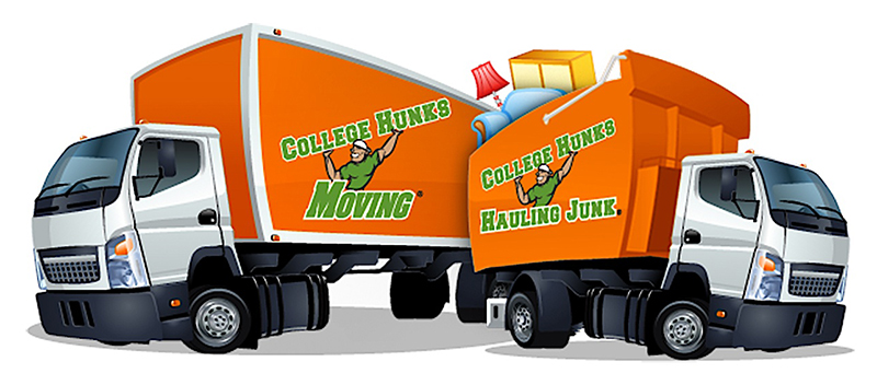 College Hunks Hauling Junk moving and hauling trucks