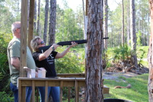 Real estate agents participating in the annual Clay Shoot event